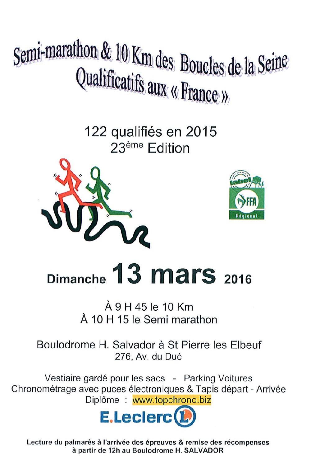 10 Kms & Semi-Marathon des Boucles de la Seine
