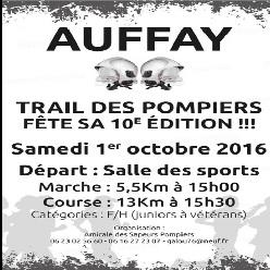 01/10/2016 -  Trail des pompiers d'Auffay @ Auffay (76)