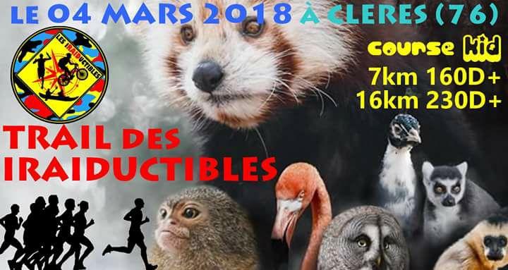 04/03/2018 - Trail des Iraiductibles (NOUVEAU) @ Clères