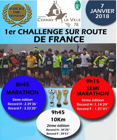 07/01/2018 – Marathon de Cernay la ville
