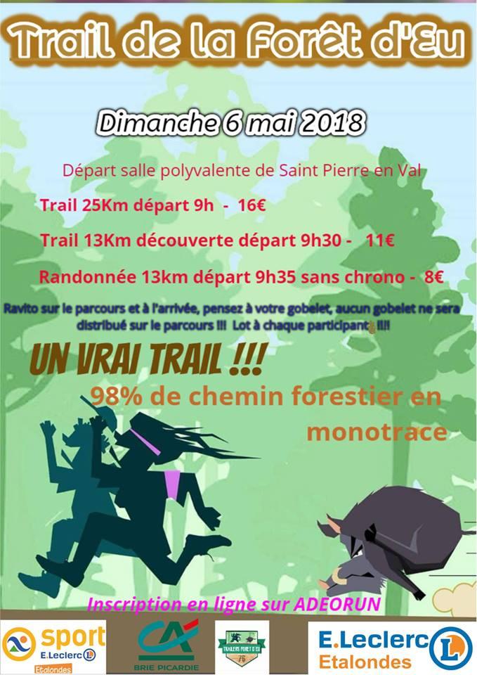 06/05/2018 - Trail de la Forêt d'EU @ Saint Pierre en Val (76)