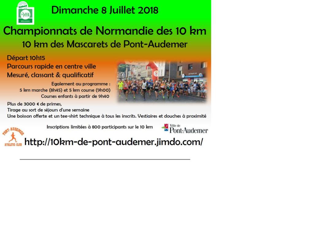 08/07/2018 - 5 et 10 km des Mascarets de Pont Audemer @ Pont Audemer (27)