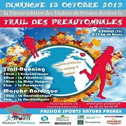 13/10/2019 – Trail des Préautomnales (Maj classement)